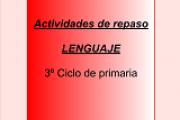 Lenguaje 3º ciclo: REPASO